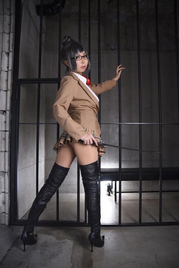 適役! 監獄学園コス 巨乳素人レイヤーさん